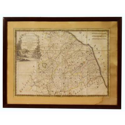 Map Of Italy XVIII Legazione Of Urbino La Marca l'Umbria Lo Stato Di Camerino