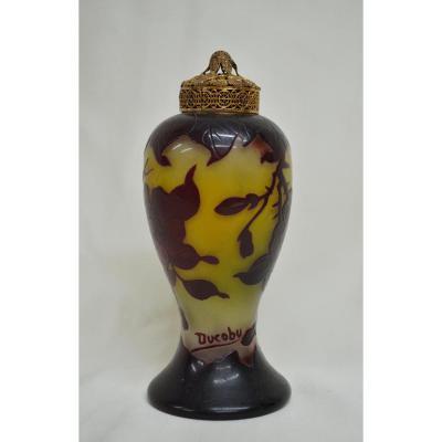 Lampe Veilleuse Signée Ducobu Circa 1900