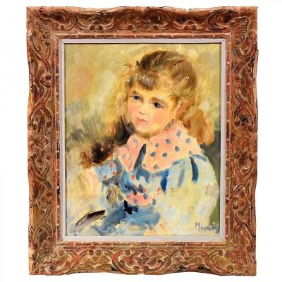 Portrait Of A Young Girl By Meautry