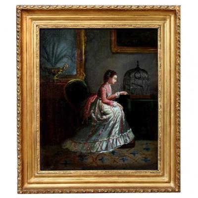 La Belle au perroquet XIXème