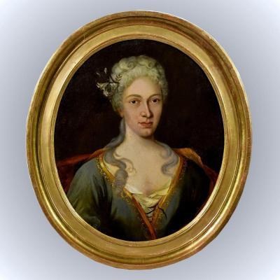 Portrait de femme noble XVIIIème