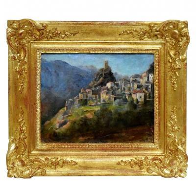 Village de Sigale Alpes maritimes par Mathieu Lefebvre Circa 1900