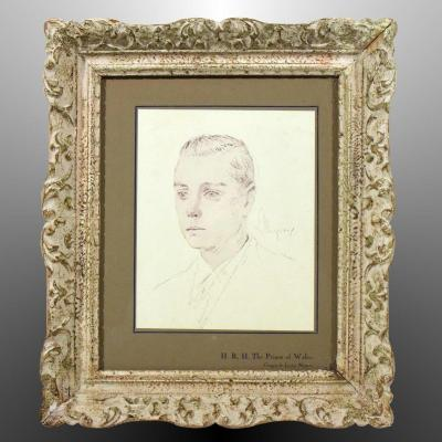 Edward VIII Prince Of Wales Engraving From Ap. Sketch By Lucien Mignon Prince Of Wales