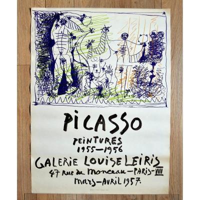 Affiche Originale Picasso 1957 Par Mourlot