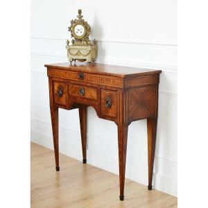 Louis XVI Style Marquetry Men's Dressing Table, XIXth
