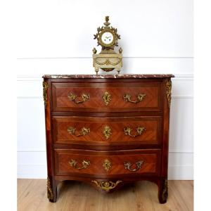Regency Style Chest Of Drawers In 19th Century Marquetry