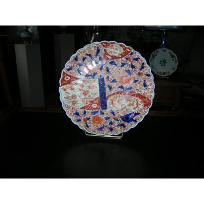 Plat à Sushi Porcelaine Imari Japon Epoque XIXem Siecle