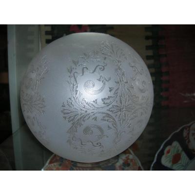 Globe Seul Pour Lampe à Huile époque XIXem Siecle