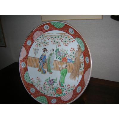 Plat A Sushis Japonais En Porcelaine époque XIX-em Siecle