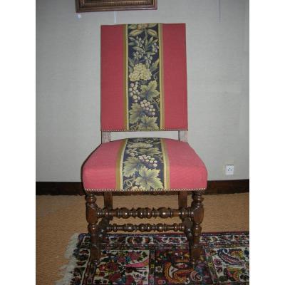 Chaise époque Louis XIII Louis XIV En Noyer
