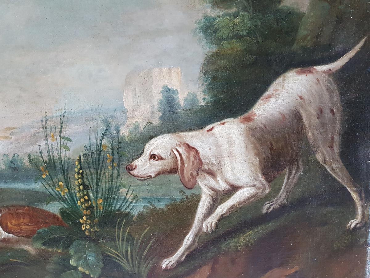 Tableau Scène De Chasse Du XVIIIème Siècle