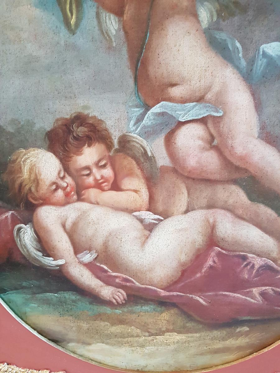 Tableau Du XVIIIème Siècle Ecole Italienne Les Trois Putti