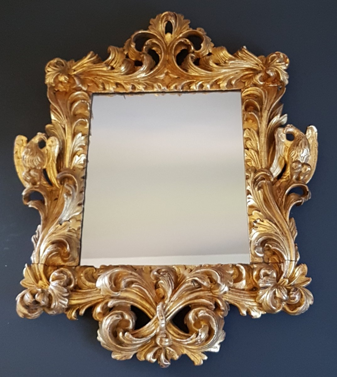 Mirror In Golden And Carved Wood Of The XVIIth Century.florence