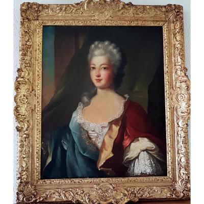 Ecole  Française Du XVIIIème Siècle Portrait De Jeune Femme