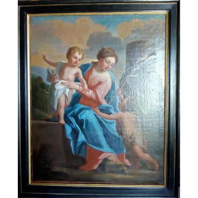 Vierge A l'Enfant Fin XVIIème Siècle
