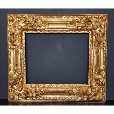 Frame In Golden Wood And Carved Eighteenth Century