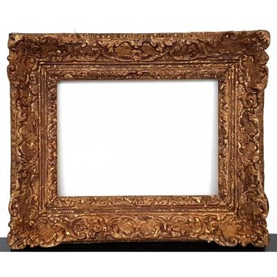 Eighteenth Century Golden And Carved Wood Frame With Berain Patterns