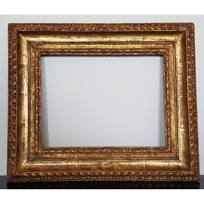 Frame In Golden And Carved Wood From The XVIIth Century. Italy