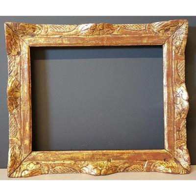 Eighteenth Century Golden And Carved Wood Frame Louis XIV Period