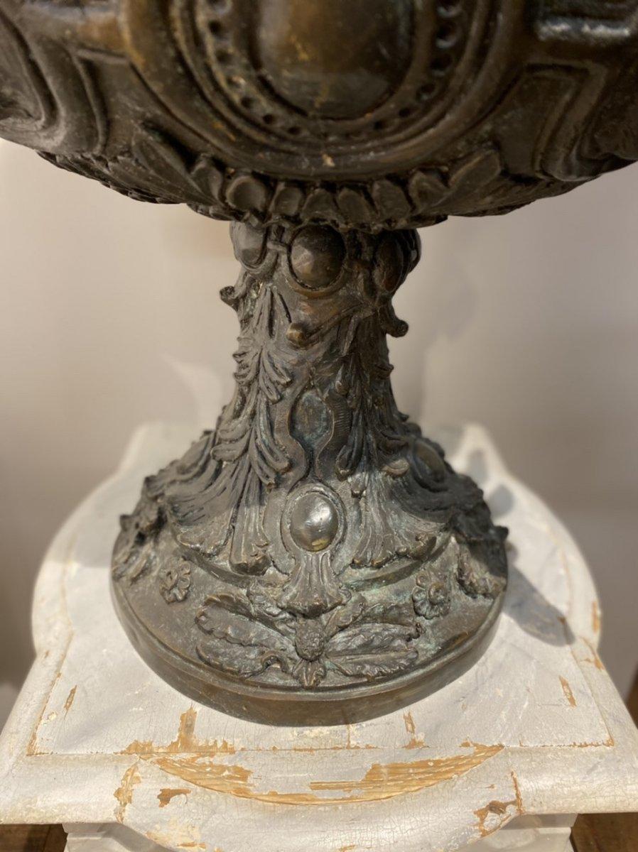 Paire De Vases En Bronze Des Années 1950-photo-4