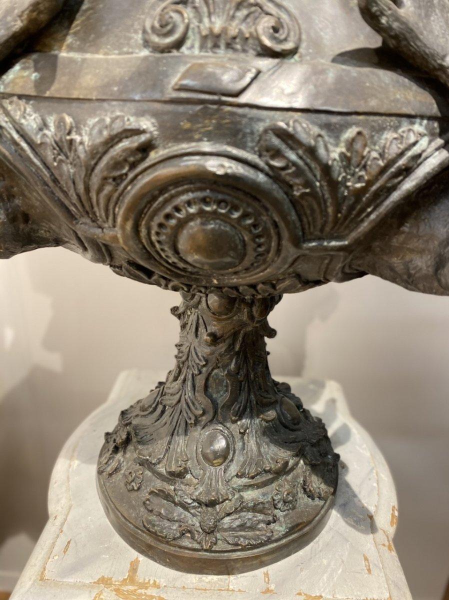 Paire De Vases En Bronze Des Années 1950-photo-2