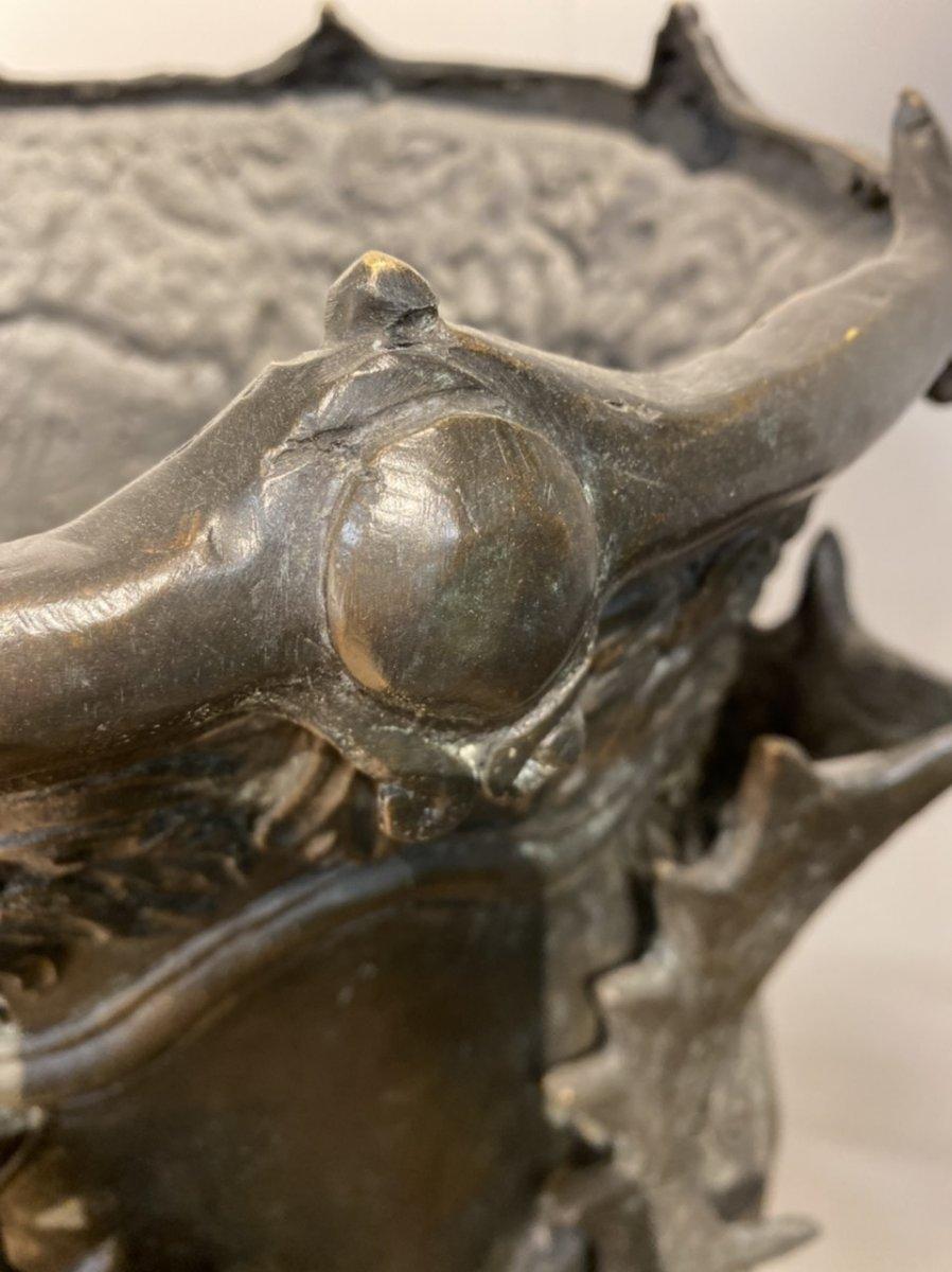 Paire De Vases En Bronze Des Années 1950-photo-1