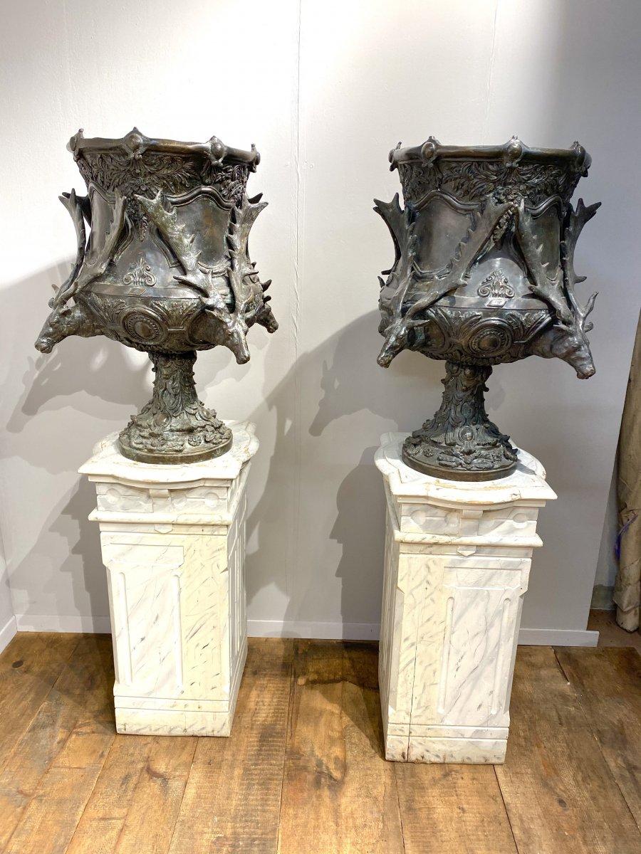 Paire De Vases En Bronze Des Années 1950