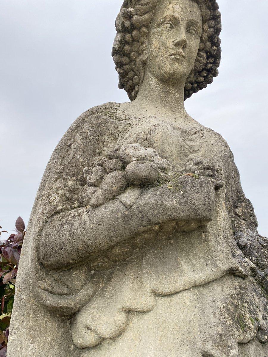 Statue De Jardin En Pierre Du Début Des Années 1900-photo-3