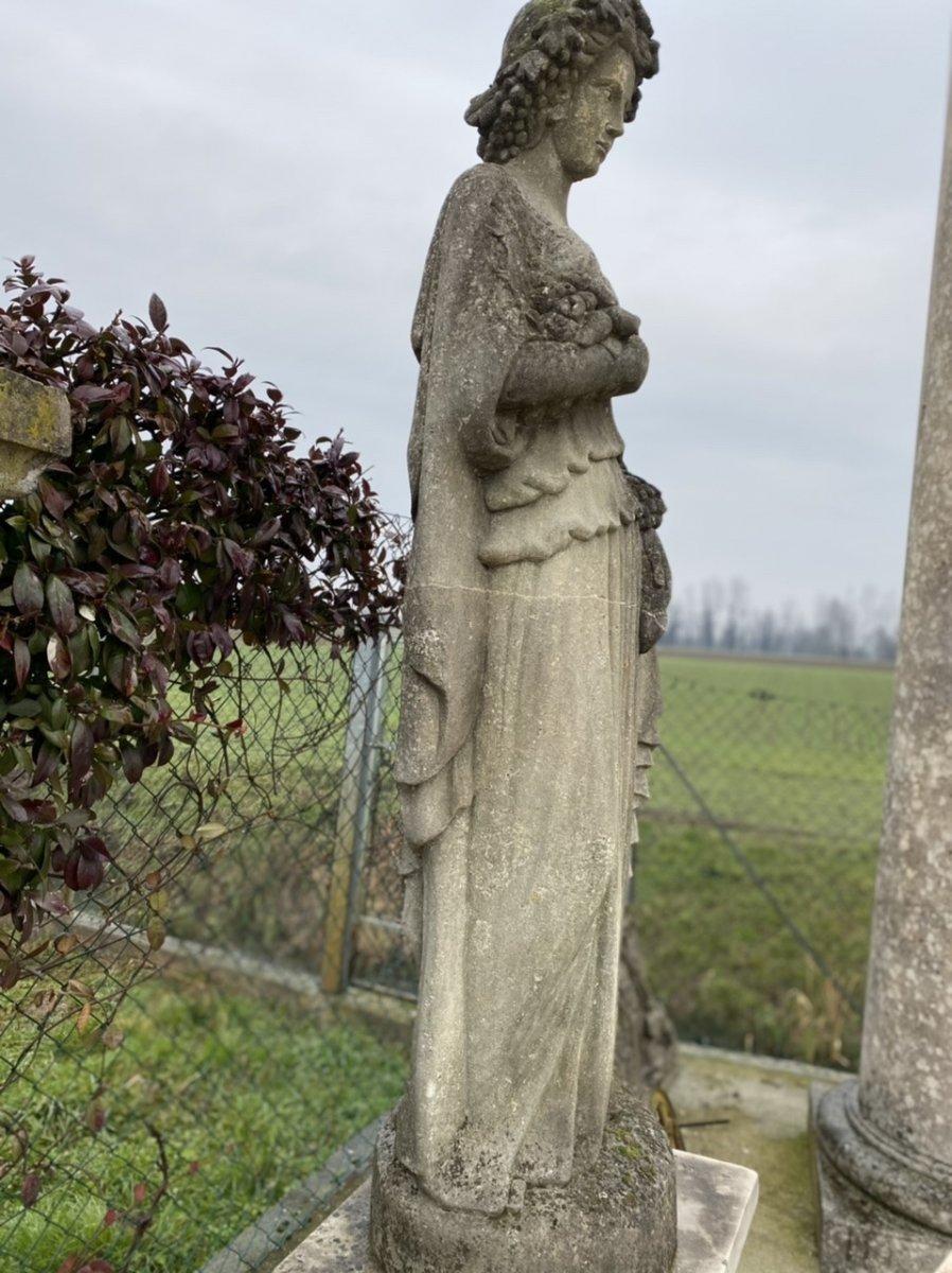 Statue De Jardin En Pierre Du Début Des Années 1900-photo-1