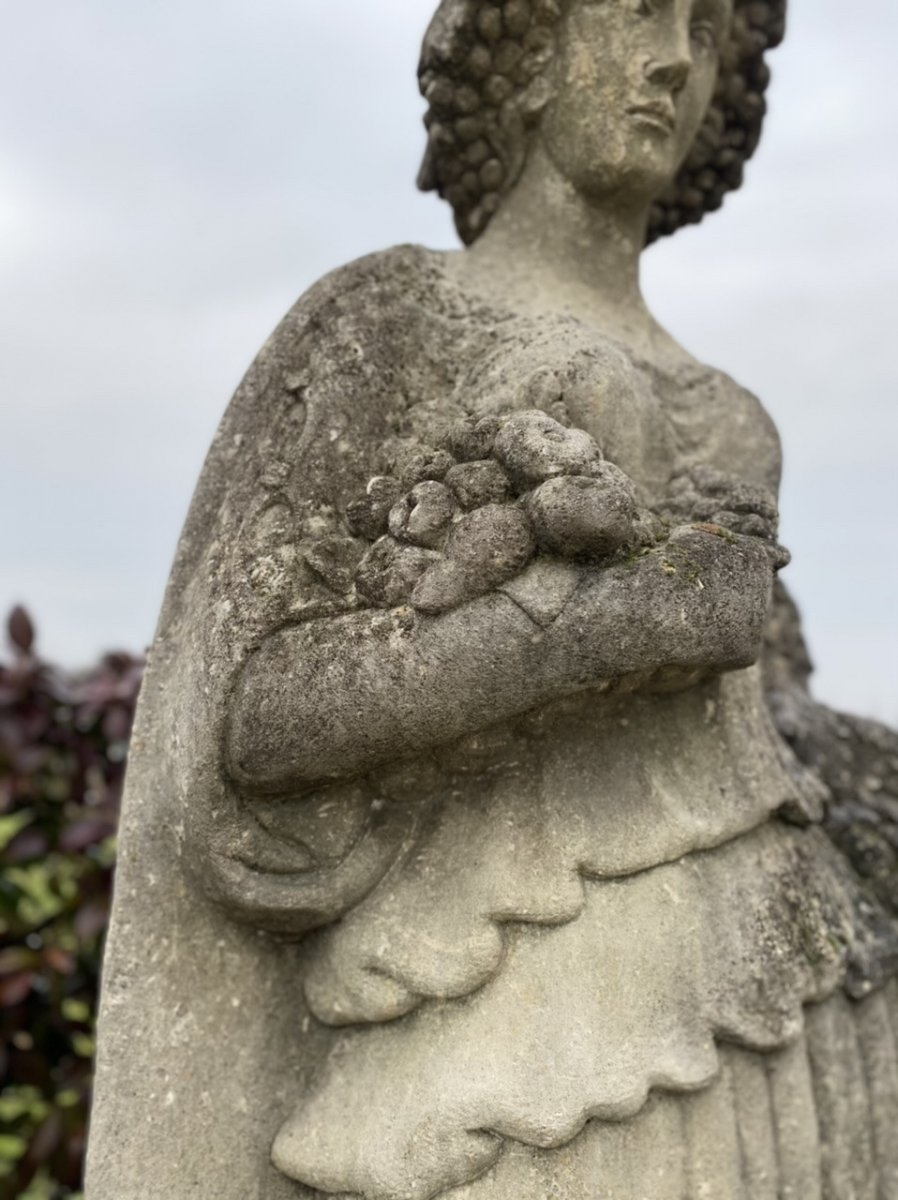 Statue De Jardin En Pierre Du Début Des Années 1900-photo-2
