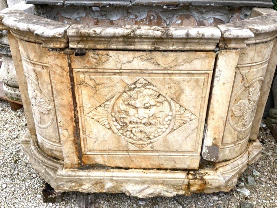 Fontaine Murale En Marbre d'époque Louis XIV-photo-2