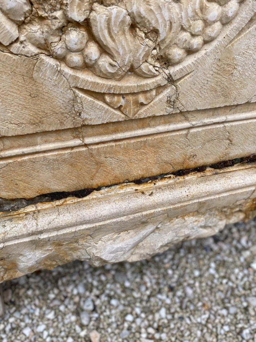 Fontaine Murale En Marbre d'époque Louis XIV-photo-4
