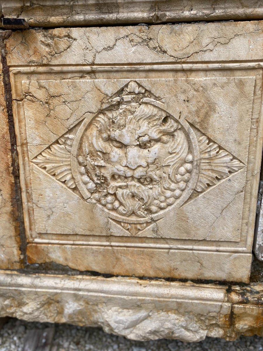 Fontaine Murale En Marbre d'époque Louis XIV-photo-5