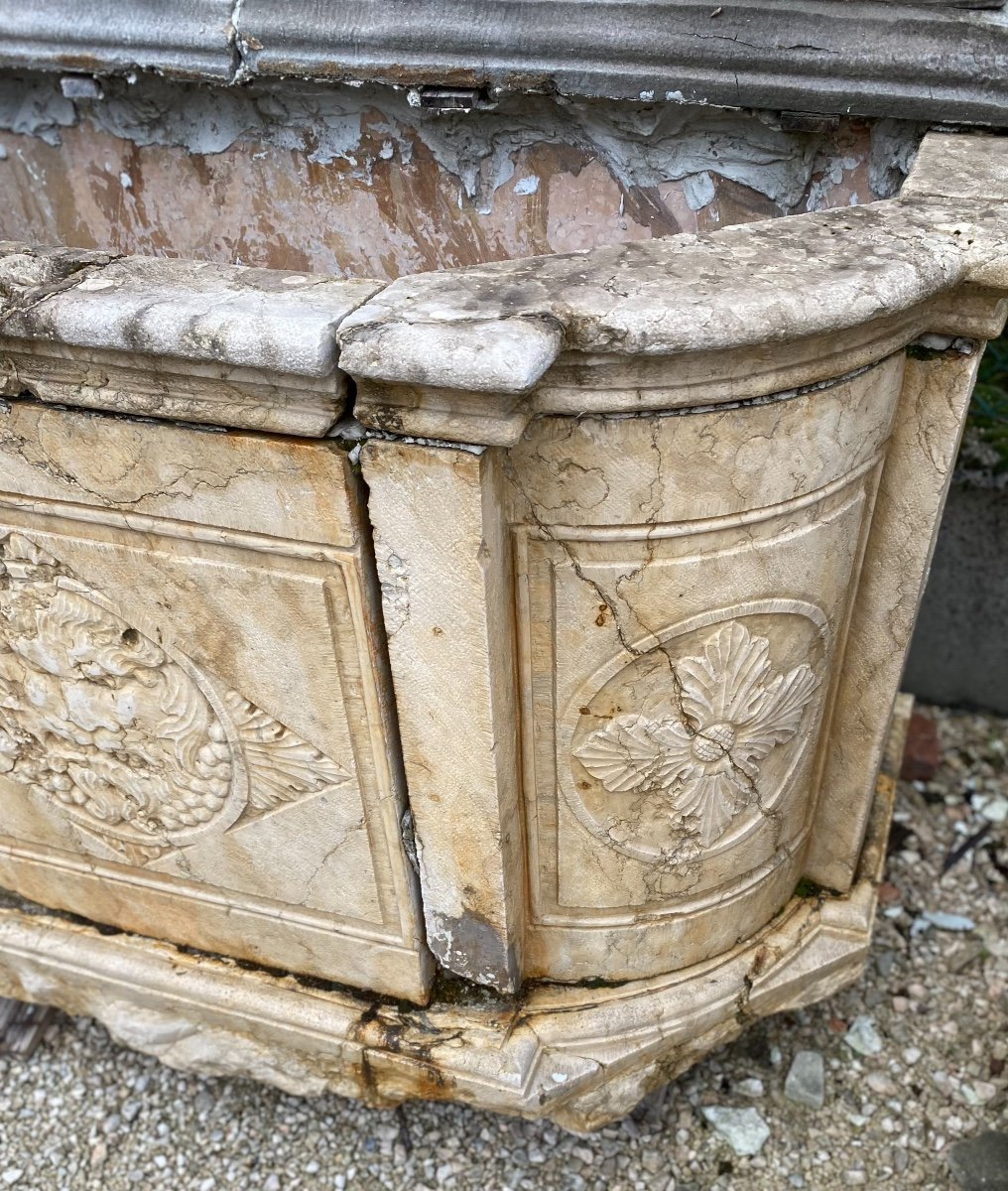 Fontaine Murale En Marbre d'époque Louis XIV-photo-7