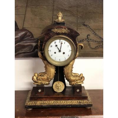 Horloge De Table En Bois Empire