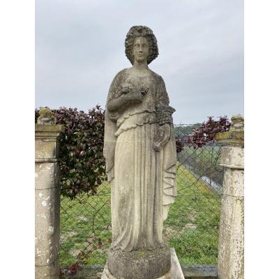Statue De Jardin En Pierre Du Début Des Années 1900
