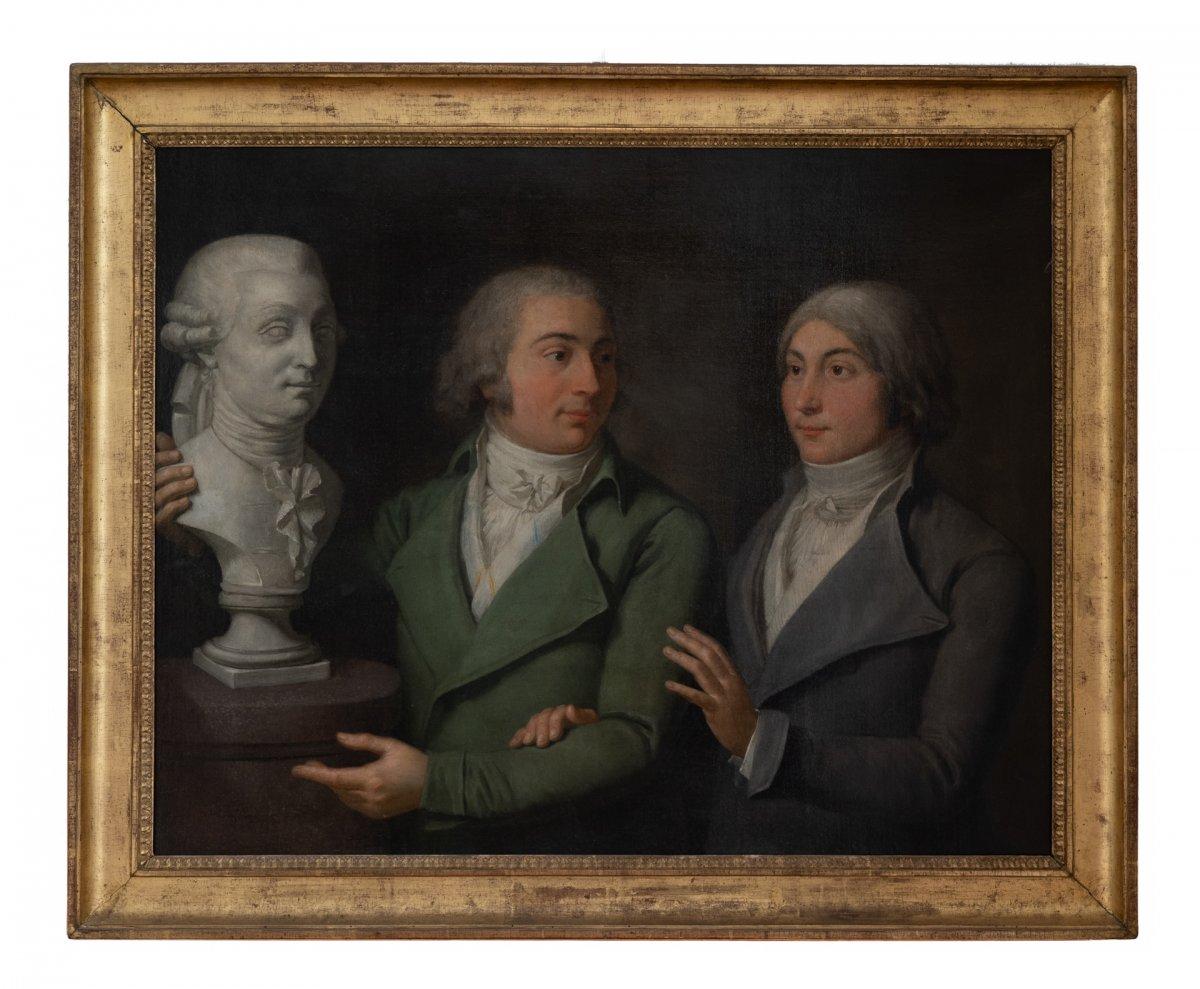 Portait De Deux Frères. Ecole Française Du XVIII