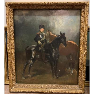 John Lewis Brown ( Bordeaux 16 Août  1829 – Paris 14 Novembre 1890) Soldat Cheval