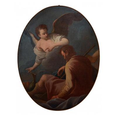 Elijah And The Angel (one Of Six Paintings)