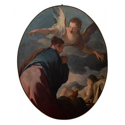 Hagar And The Angel (one Of Six Tables)