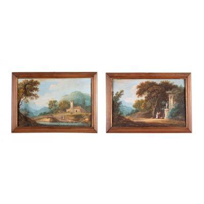 Paire De Gouaches XVIII Siècle