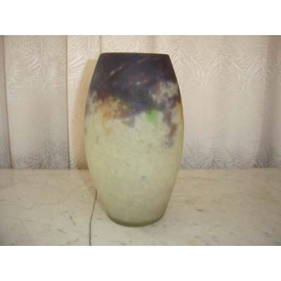 Vase En Pâte De Verre Muller Freres