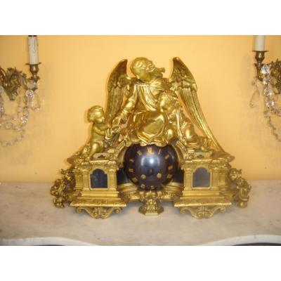 Globe Pendulum Gilt Bronze From 19 Th Century