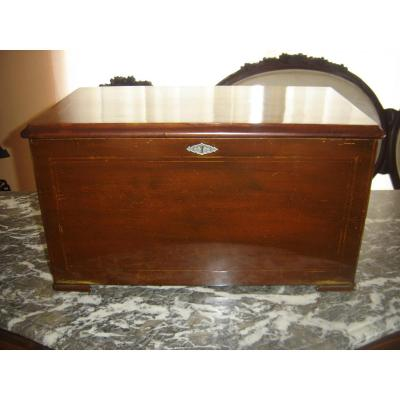 Mahogany Music Box 19 Eme With Inlay