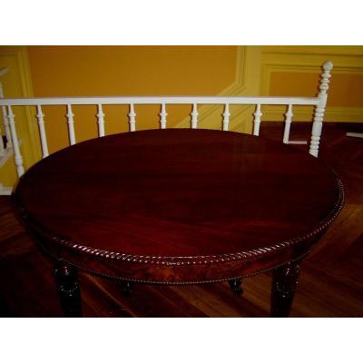 Grande Table En Acajou De Cuba De Stlyle Louis 16 Début 19eme 6 Pieds