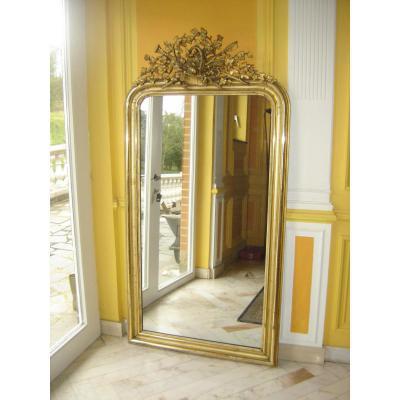miroir ancien sur proantic louis xvi directoire 19 me si cle. Black Bedroom Furniture Sets. Home Design Ideas