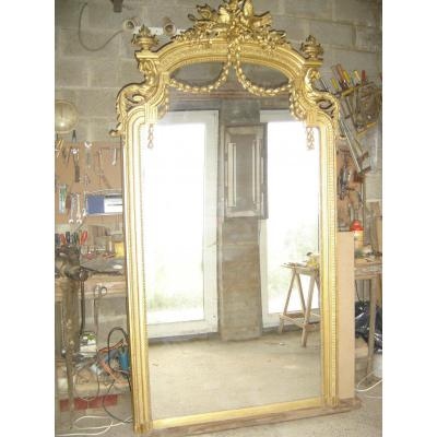 Spectaculaire et tr s grand miroir d 39 poque napol on 3 - Grand miroir dore ...