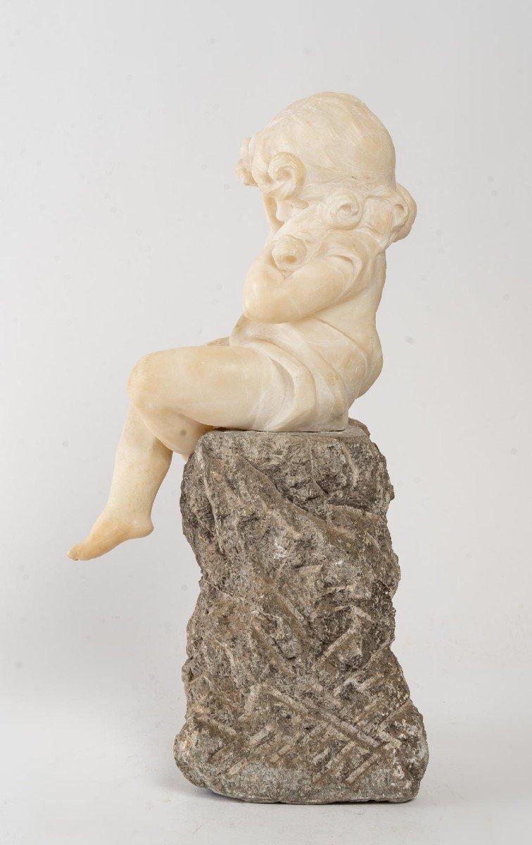 Figurine En Albatre d'Une Petite Fille-photo-2