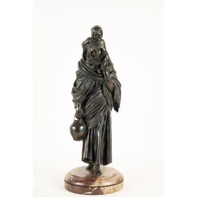 Chiparus Demetre,  Statue Orientaliste En Bronze à Patine Brune