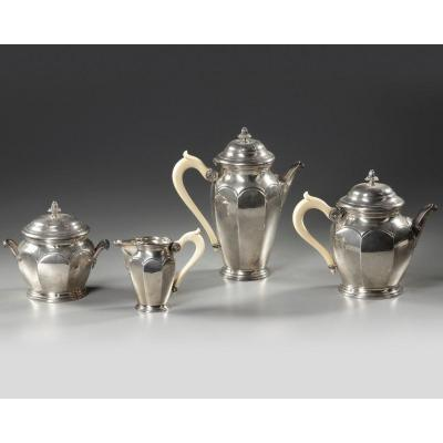 Service The And Cafe In Sterling Silver XIXth Century